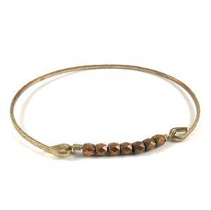 Vintage Jewelry - Vintage Copper & Gold Tone Bangle Cuff Bracelet